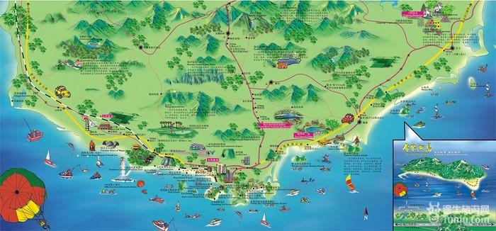 【三亚旅游攻略】三亚旅游地图