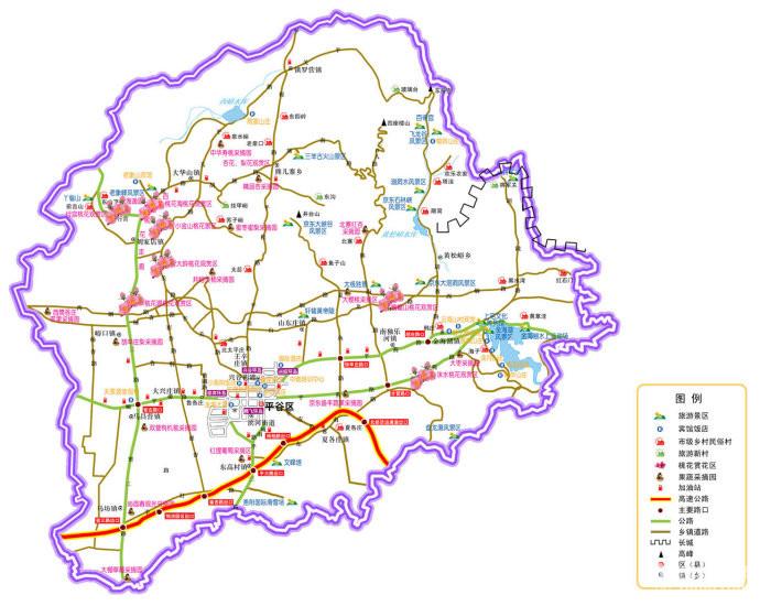 北京平谷旅游地图_北京金海湖导游图旅游联盟北京平谷旅游资讯