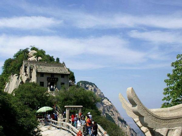 华山风景游览示意图