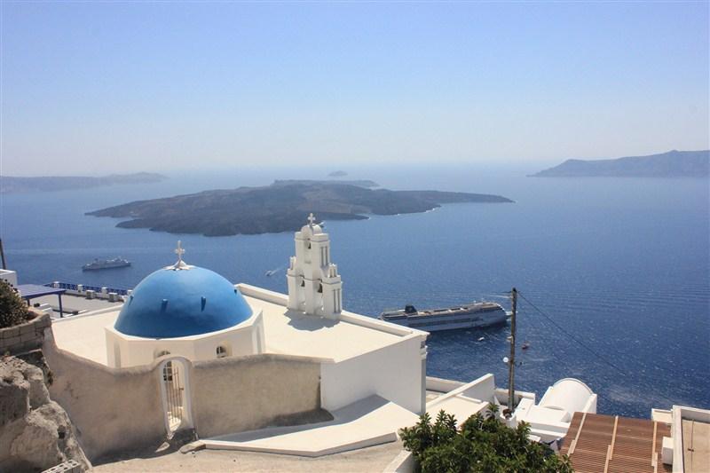 希腊蓝色房子图片